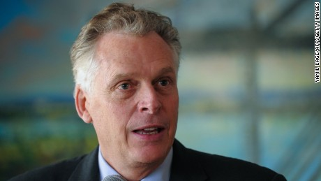 US Virginia Governor Terry McAuliffe speaks during a press conference at the Mariel development zone, in Mariel, Artemisa Province, Cuba, on January 5, 2016.