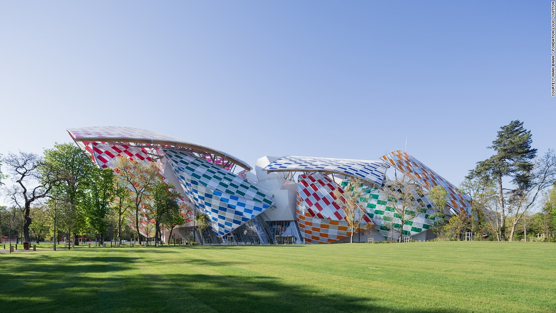 French artist Daniel Buren has transformed Paris' Fondation Louis Vuitton into a giant kaleidoscope.