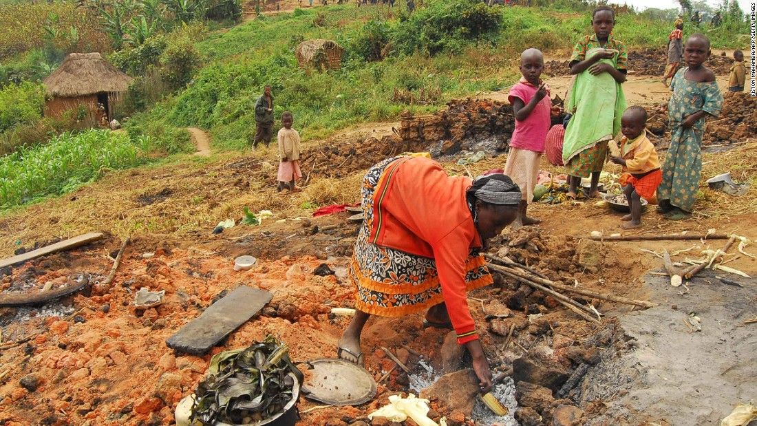 "People displaced from their villages rummage through the ashes of their burnt homes in the North Kivu province in the Democratic Republic of the Congo (DRC) in February 2016. Around 20 people were killed and 40 wounded in one weekend's violence, the spokesperson for the U.N. High Commissioner for Human Rights, <a href=""http://www.ohchr.org/EN/NewsEvents/Pages/DisplayNews.aspx?NewsID=17022&LangID=E"" target=""_blank"">Cecile Pouilly, said in a statement</a>."