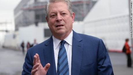Former US Vice President and environmental activist Al Gore arrives for the COP21 Climate Conference in Le Bourget, north of Paris, on December 12, 2015. The years-long quest for a universal pact to avert catastrophic climate change neared the finish line today with conference host France announcing that the final draft had been completed in the early hours of the morning.