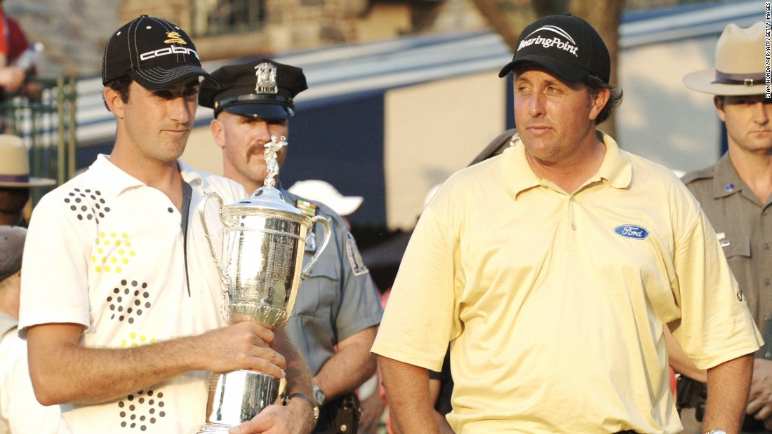 "It was Mickelson's fourth U.S. Open runner spot, and the wobble at Winged Foot will go down as arguably Lefty's most devastating   defeat. ""It was really bittersweet with Phil on the last green because he was at a pretty low point,"" Ogilvy told CNN's Living Golf."