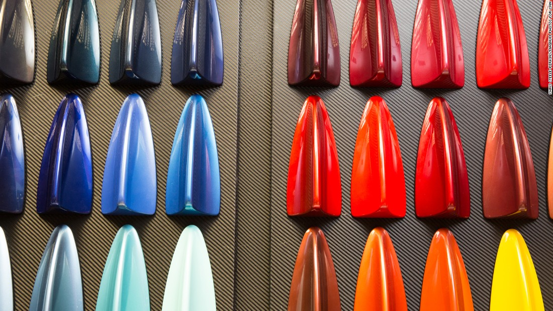 Rolls-Royce has more than 44,000 paint colors for clients to choose from. (This is only a small portion.) They also offer color-matching services on request.