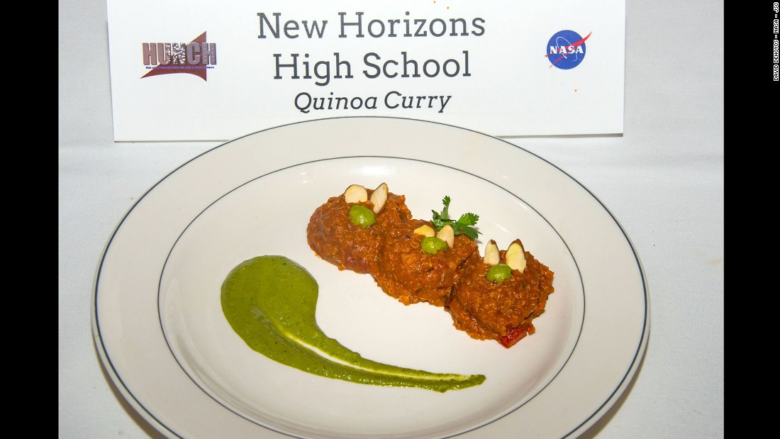 The team form New Horizons High School cooked quinoa curry.