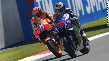 Cat and Mouse: Lorenzo and Marquez exchanged places at the front on the final lap