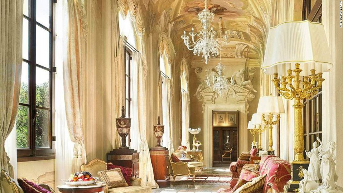 This unabashedly opulent property consists of not one but two Renaissance palazzi. It's home to Florence's largest private garden -- 11 acres of manicured lawns, woodland and flower gardens.