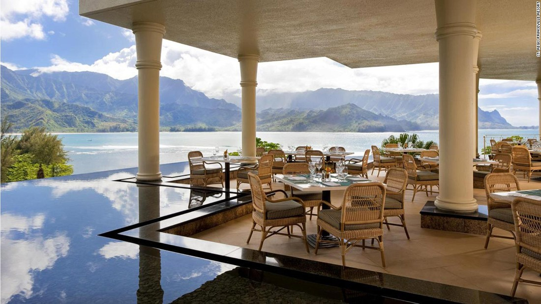 The St. Regis's 169 rooms and suites have expansive terraces that make the most of the spectacular backdrops of Hanalei Bay and Makana Mountain.