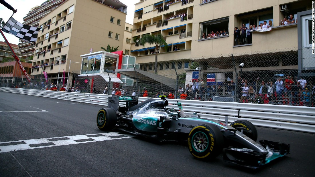 Another German, Nico Rosberg (seen here crossing the line in 2015) has dominated the race in recent seasons. The Mercedes driver will be hoping to take the checkered flag for a fourth consecutive time in 2016.