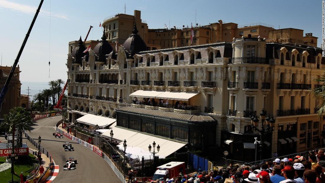 The 2.07-mile (3.34-kilometer) circuit runs around Monte Carlo's famous streets, including Casino Square.