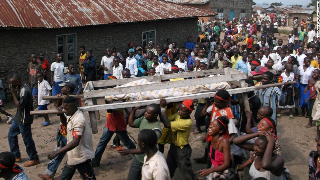 "The violence is not new. Pictured, a burial procession for one of the victims of <a href=""http://www.un.org/apps/news/story.asp?NewsID=50609#.V0MtePkrKUk"" target=""_blank"">an attack on civilians</a> near Beni, a large town in the North Kivu province, in April, 2015."