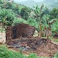 burnt house north kivu province drc
