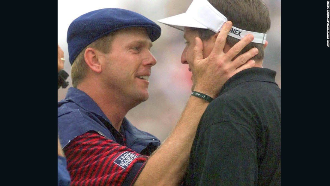 Mickelson's first real taste of U.S. Open disappointment came at the 1999 tournament at Pinehurst, North Carolina. With wife Amy expected to go into labour at any minute for the birth of their first child -- and on Father's Day to boot - the 29-year-old Mickelson led by one with three holes left. But he was overhauled by the colourful Payne Stewart, who died four months later in a plane crash.