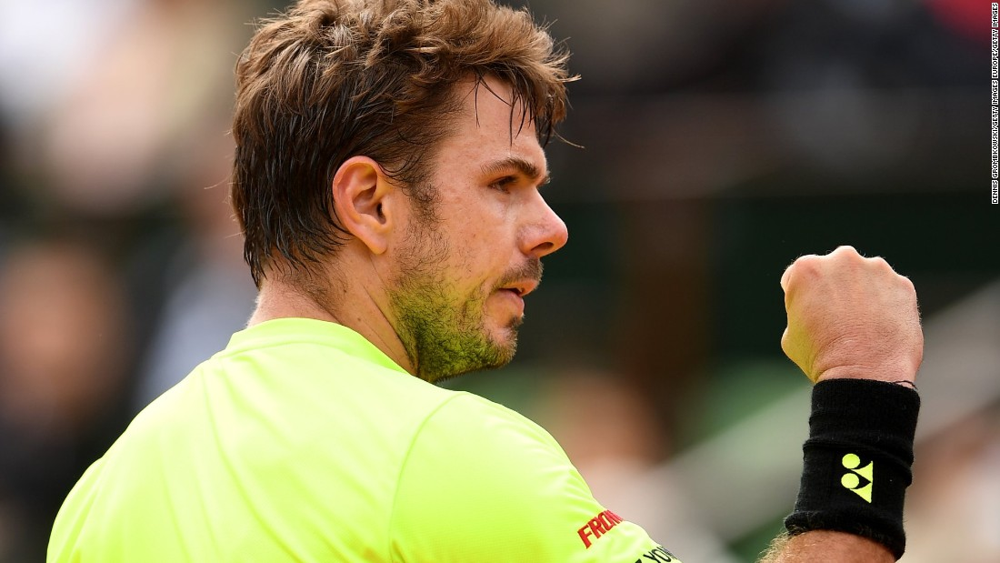 But Wawrinka eventually prevailed 4-6 6-1 3-6 6-3 6-4 to set up a clash with Japan's Taro Daniel.