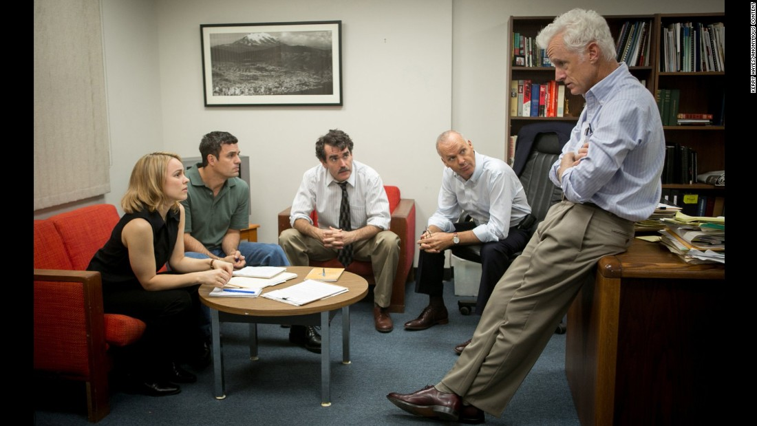 "<strong>""Spotlight""</strong>: Michael Keaton, Brian d'Arcy James, Mark Ruffalo, John Slattery and Rachel McAdams star in this Academy Award-winning film about the Boston Globe's investigative reporting into the Catholic Church's child sex abuse scandal. <strong>(Netflix) </strong>"