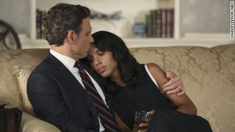 Tony Goldwyn and Kerry Washington in Scandal in the Paris is Burning episode.