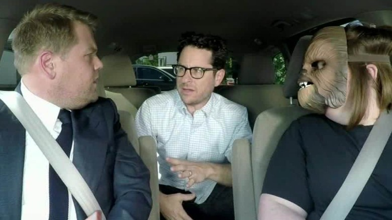 'Chewbacca Mom' drives James Corden to work