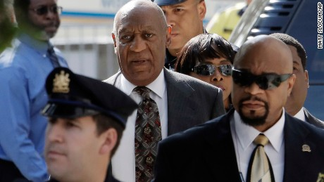 Bill Cosby arrives at the Montgomery County Courthouse for a preliminary hearing in Norristown, Pennsylvania, on Tuesday, May 24.