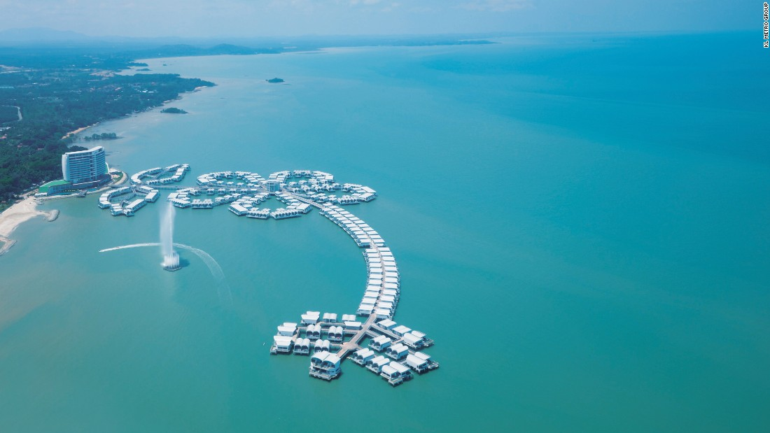 The Lexis Hibiscus resort at Port Dickson in Malaysia is a sustainable development built on water.
