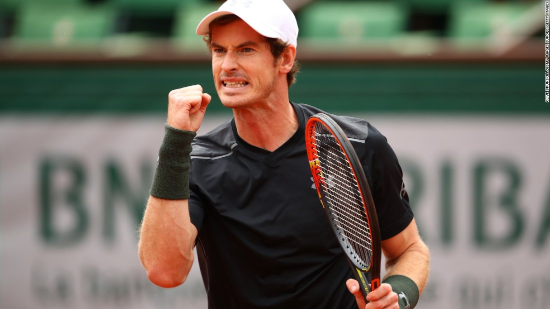 Andy Murray celebrates after winning his first-round match over Radek Stepanek. But it wasn't easy ...