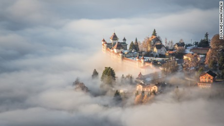 The shot is the result of a magical, powerful instant seen from the top of Sonchaux (CH), a day when the clouds were particulary low. I though I was like immerged in a fairytale, out of every human scale.