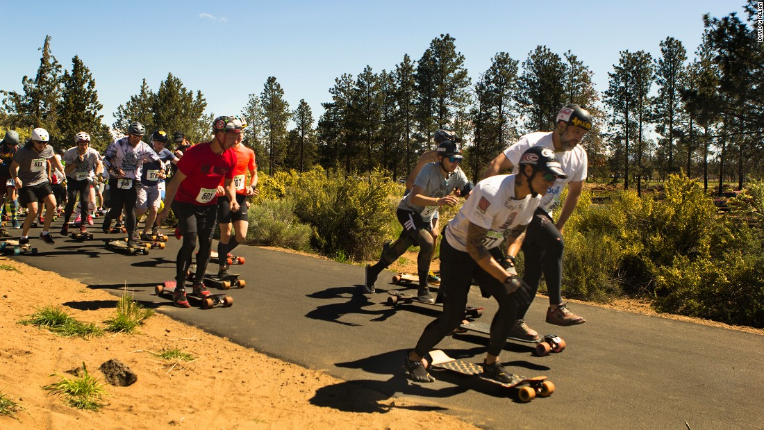 On May 1, 2015, skaters arrived at Pine Nursery Park on the northern edge of the city for the first Bend Beatdown longboarding race.