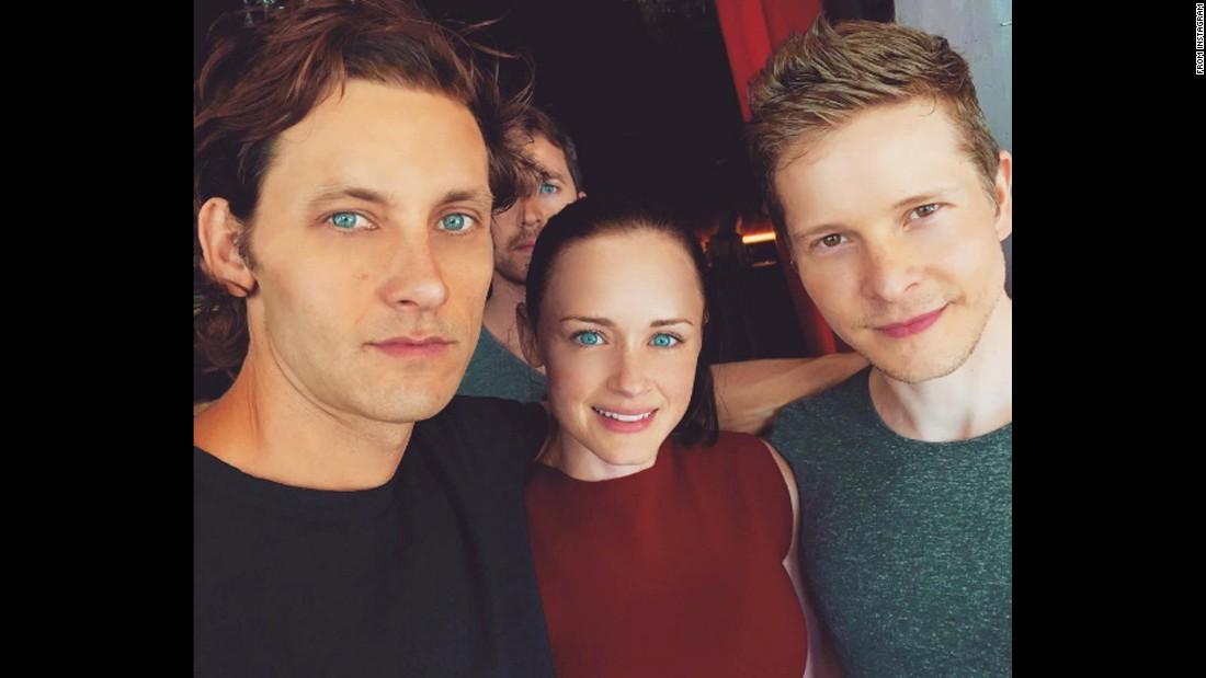 "Actor Tanc Sade, left, takes a selfie with his ""Gilmore Girls"" co-stars Alexis Bledel and Matt Czuchry on Thursday, May 5. ""Chillin' with #Rory & #Logan,"" <a href=""https://www.instagram.com/p/BFCSrURoTTw/"" target=""_blank"">Sade said on Instagram,</a> referring to their characters on the show. ""Will they? Won't they? Hmmm."""