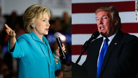 Donald Trump focuses on Hillary Clinton