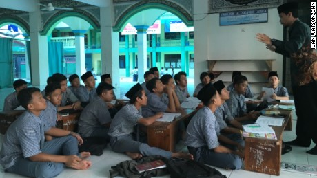 Students at an Islamic school in Jakarta said they had all heard of Trump's proposed ban on Muslims entering the U.S.