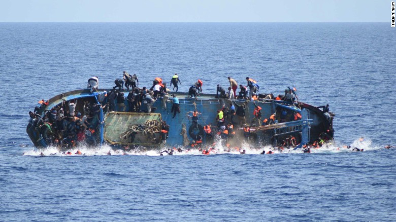 Ship flips, throws 500+ overboard