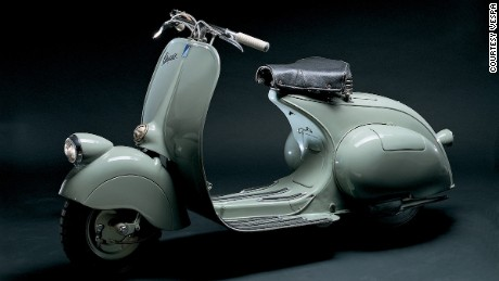 The Vespa 98cc, the company's original model, debuted in 1946.