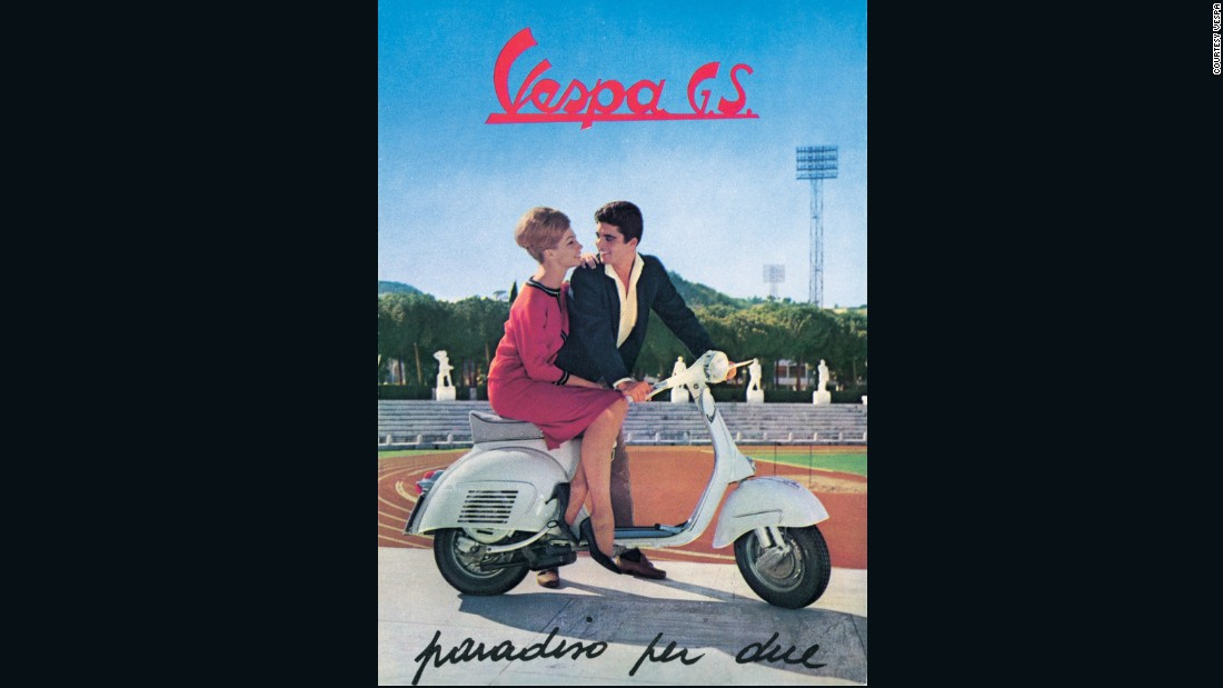 By 1962 Vespa was marketing models like the GS as the embodiment of carefree, Dolce Vita style.