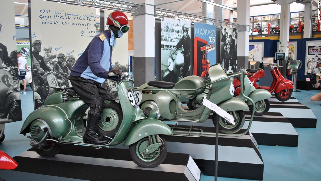 The Piaggio Museum in Pontedera, Italy, mounted an exhibition celebrating 70 years of Vespa production and culture.
