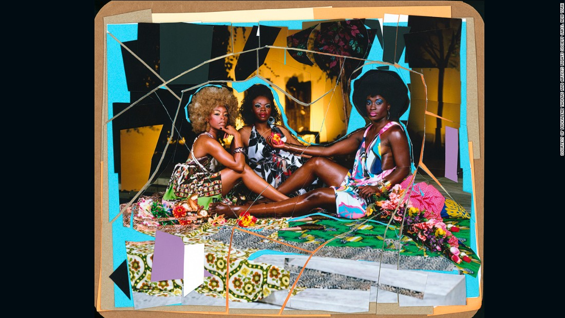 """While the images are decidedly contemporary, Thomas often draws inspiration from the past. <em>Le Déjeuner sur l'herbe: Les trois femmes noires</em> (2010), for example, is a direct nod to Edouard Manet's <a href=""""https://www.artsy.net/artwork/edouard-manet-luncheon-on-the-grass-le-dejeuner-sur-lherbe"""" target=""""_blank""""><em>Le Déjeuner sur l'herbe<em></a></em>. </em>"""