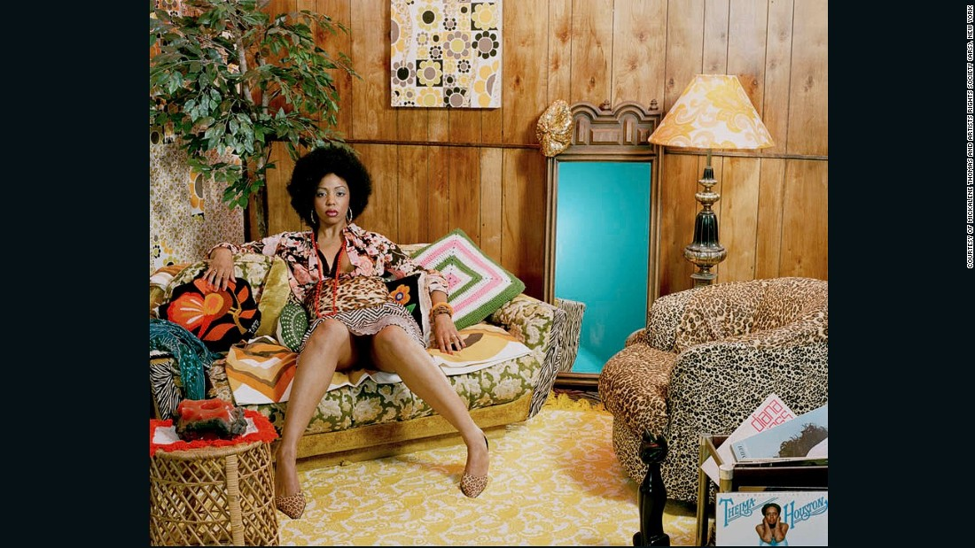 Her elaborate sets harken back to the 70's. She hopes that the element of nostalgia will help her models feel more comfortable at the beginning of the creative process.