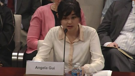 Angela Gui testifies before the CECC.