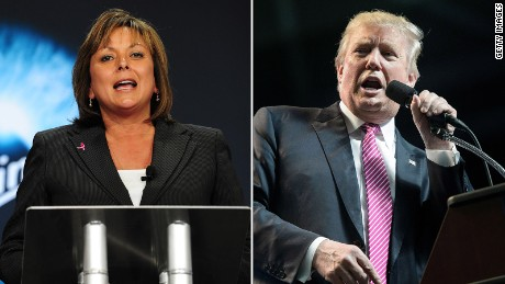 Why did Trump swipe at GOP governor Martinez?