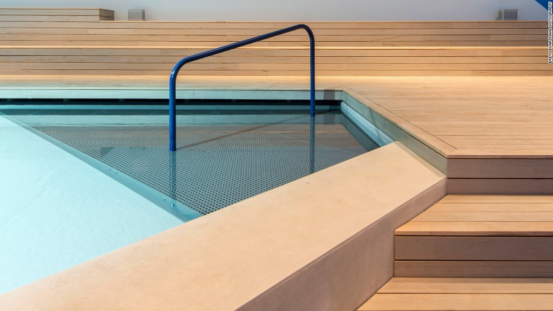 """The highlight of the exhibition is a 60 square meter pool by the Centre for Appropriate Technology. The colors are meant to """"reflect the colors of Australia's center."""""""