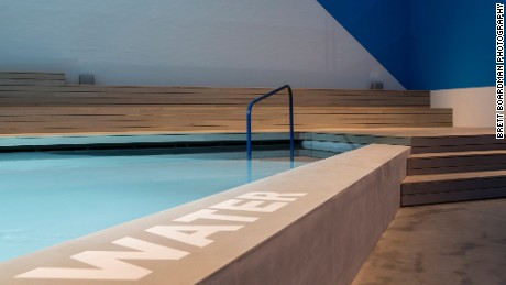 The 60 meter square pool at the heart of the Australian exhibition.