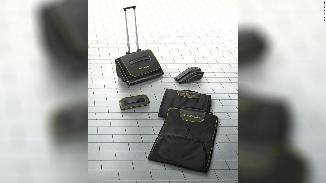 "Porsche's signature luggage collection for the Spyder 918 -- with the kind of German engineering that allows for the same satisfying ""clunk"" on suitcases as on car doors -- retails for just under $20,000."