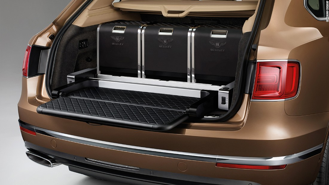Designed in collaboration with designer Linley, the Bentley hamper can be secured into the Bentayga SUV.