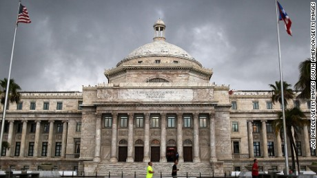 The Puerto Rican Capitol building in San Juan.