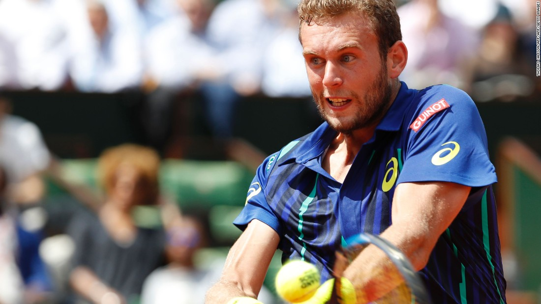 The French wildcard sizzled in the second and third sets playing in the first grand slam main draw of his career.