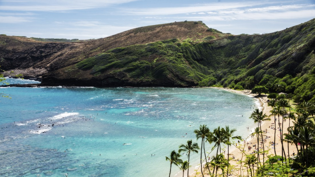 Although top-ranked Hanauma Bay Nature Preserve in Hawaii is a 10-mile drive from Waikiki Beach on Oahu, it's a world away with its marine protected area and limited parking. (Take the shuttle. It's worth it.)