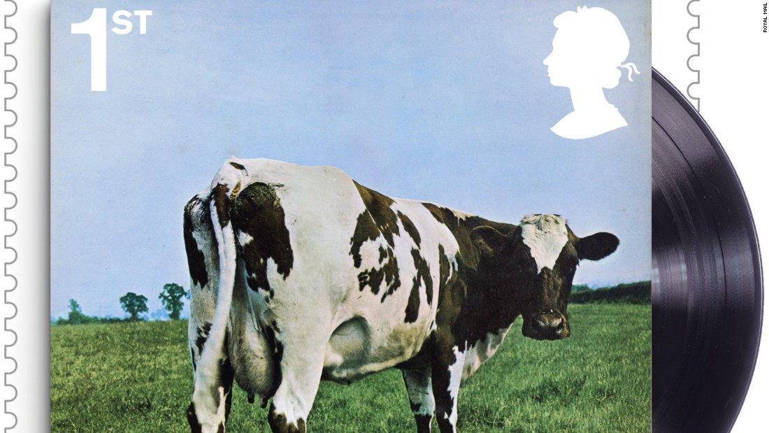 """Atom Heart Mother"" album cover, released by EMI Harvest in 1970"