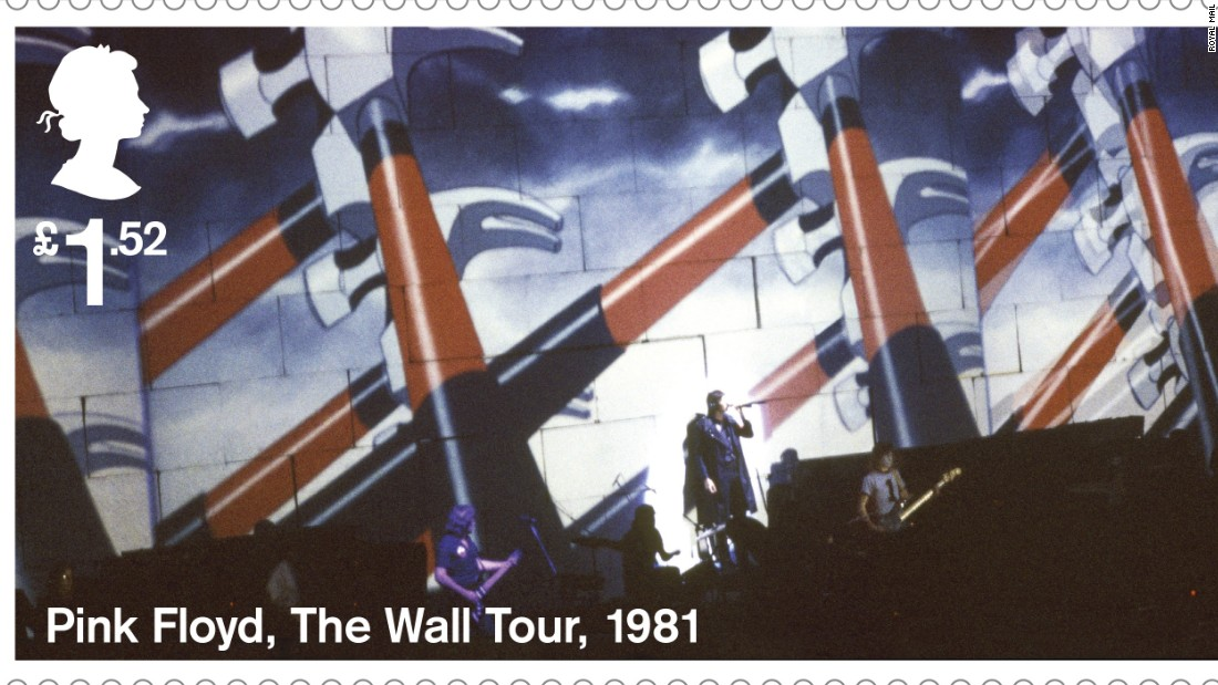 """The Wall"" tour animation of 1981: During the performance, these animations were projected onto a 40 foot-high wall of cardboard bricks that was gradually built between the band and audience."