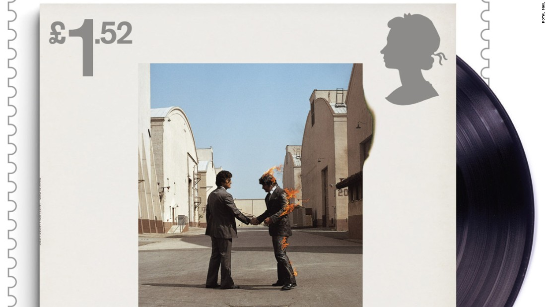 """Wish you were here"" album cover, released by EMI Harvest in 1975"