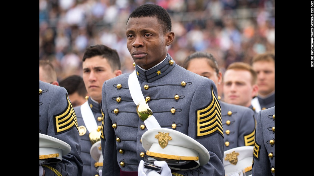 "Cadet Alix Idrache <a href=""http://www.cnn.com/2016/05/25/us/west-point-graduates-emotional-photo-trnd/index.html"" target=""_blank"">sheds tears of joy</a> Saturday, May 21, as he graduates from the U.S. Military Academy in West Point, New York. ""I am from Haiti and never did I imagine that such honor would be one day bestowed on me,"" he said. He will soon be going to flight school. ""Knowing that one day I will be a pilot is humbling beyond words,"" he said. ""I could not help but be flooded with emotions knowing that I will be leading these men and women who are willing to give their all to preserve what we value as the American way of life."""