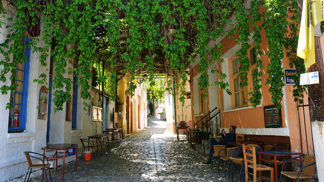Regular visitors to Lesbos say they're saddened to see the island's normally bustling tavernas empty of tourists. <br />