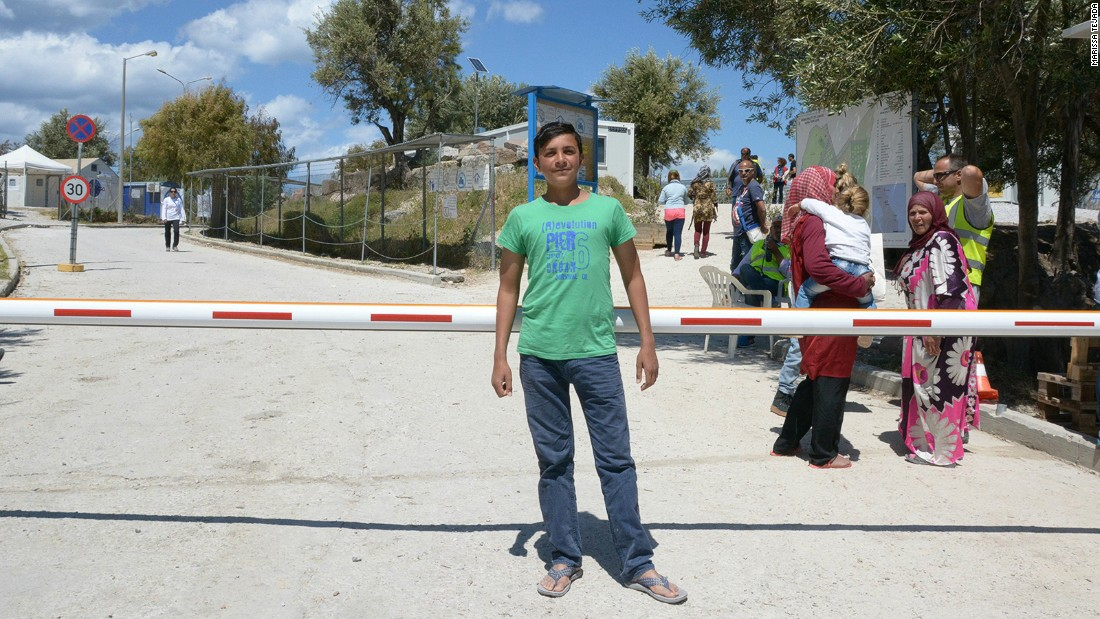 Among refugees at the camp is Akram, a 16-year-old Syrian, who says he fled alone for a better life in Europe after his father was killed. His says his mother is still in Syria.