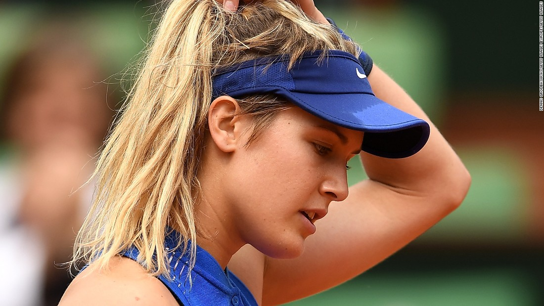 Eugenie Bouchard, a 2014 semifinalist, exited against eighth-seed Timea Bacsinszky 6-4 6-4 in a topsy-turvy affair.