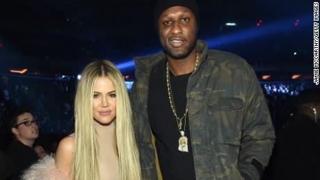NEW YORK, NY - FEBRUARY 11:  Khloe Kardashian and Lamar Odom attend Kanye West Yeezy Season 3 on February 11, 2016 in New York City.  (Photo by Jamie McCarthy/Getty Images for Yeezy Season 3)